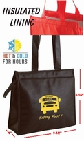 Only 8 left IN STOCK!  Thermo Slant Black Lunch Totes SPECIAL!