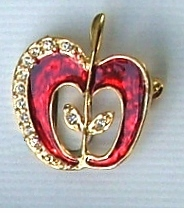 Openwork Apple Pin - $5.95 only 15 Left!