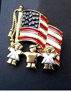 Patriotic Tykes with Flag Pin