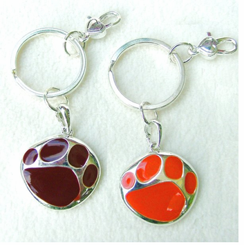 Paw Print Mascot Key Ring