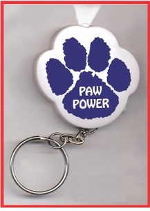 Paw Print Mascot Key Ring Imprintables