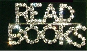 """Read Books"" Rhinestone Fashion Pin -only 4 left!"