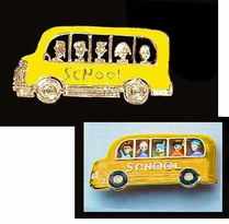 School Bus Driver Fashion Pins<BR> 3 Styles