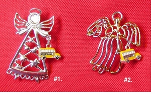 School Bus Guardian Angel Fashion Pins