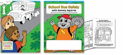 School Bus Safety Coloring books. as low as .48 ea.
