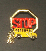 School Bus Stop Pin