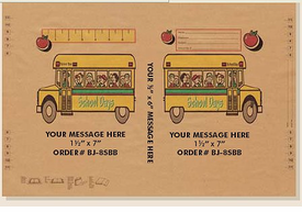 School & School Bus Theme Book Covers