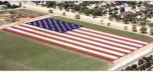 See this Awesome Floral Flag for our Soldiers