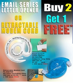 @ sign Letter Opener & Retractible <BR>Modem Cord SALE!