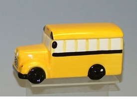 Small School Bus Cookie Jar / Treat Jar