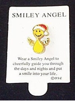 Smiley  Angel Santa Lapel Pin - 4 PAK  NOW - ON SALE!