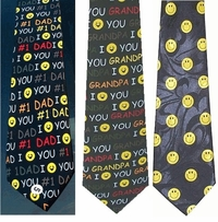 Smiley Faces Poly Ties for Dad or Grandpa! - CLEARANCE!