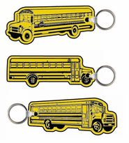 Soft Vinyl Imprinted School Bus Key Tags as akow as .42 ea.