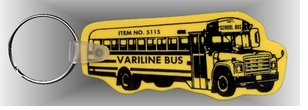 Soft Vinyl School Bus shape Key Ring -Low Minimum