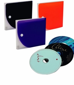 Square Vinyl CD Holder -Holds 10 - $1.50 - $2.00 -SALE
