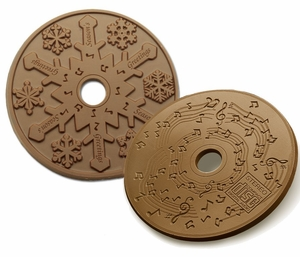 Stock Chocolate SNOWFLAKE, BIRTHDAY or MUSIC CD's On Sale! - $3.85 ea.