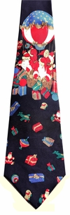 Stylish All silk Hot Air balloon Santa Necktie