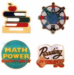 Teacher Enamel Lapel Pins/4 PAK