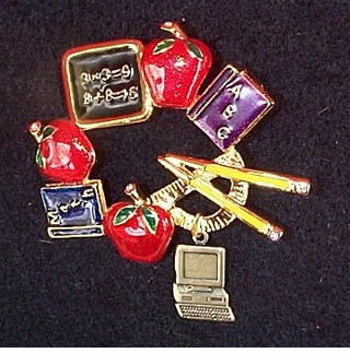 Teacher Pins at only $7.95 ea.  CLOSEOUT! --only 4 left!