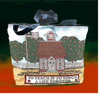Teacher Tapestry Tote Bag