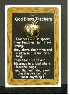 Teachers Prayer Apple Lapel Pin - 3 PAK