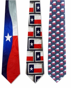 Texas Flag Poly Ties