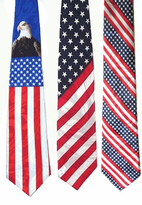 Texas & Patriotic  Poly American Flag Ties