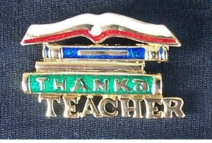 Thank a Teacher Pin - CLOSEOUT! $3.95  -only two left!