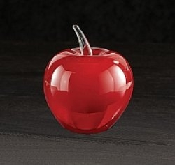 Red Blown Glass  with Class Apple Award - Low Minimum