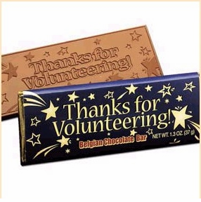 Volunteer Gifts & <BR>Chocolate Bars