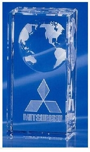 World Dominance Crystal Tower Award - 3 sizes
