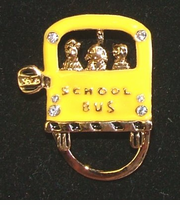 Yellow School Bus Eye Glass/Badge Holders - 2 styles