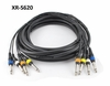 "20 ft. 4-Channel 1/4"" (6.3 mm) Mono Male/Male Plug Audio Mixer Snake Cable"