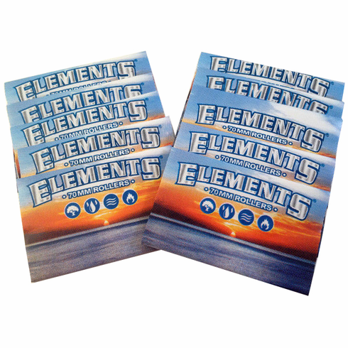 10 Pack Elements or Zen 70mm Replacement Spare Aprons Sleeves for Single Wide Hand Cigarette Rolling Machines
