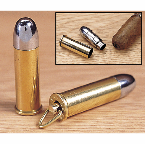 44 Magnum Bullet Cigar Punch Cutter With Key Ring