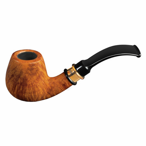 4th Generation 1855 Vintage Natural Smooth Full Bent Smoking Pipe