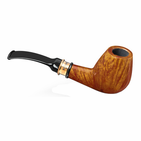 4th Generation 1882 Vintage Natural Smooth Quarter Bent Smoking Pipe