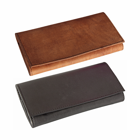4th Generation Brown Suede, Black or Navy Blue Leather Roll-up Tobacco Pouch