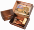 American Assortment Gift Set of Two Corncob Pipes - 1 Bent & 1 Straight