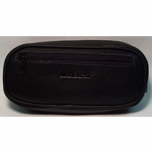 Black Leather Tobacco Pouch & Pipe Carrying Case