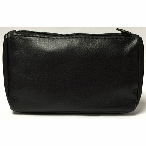 Black PVC Zippered Tobacco Pouch