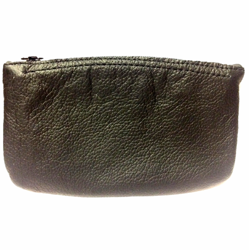Black Vinyl Full Size Tobacco Pouch with Zipper