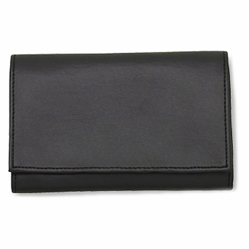 Black Vinyl Roll Up Tobacco Pouch
