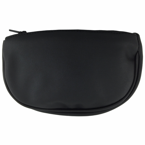 Black Vinyl Zipper Tobacco Pouch