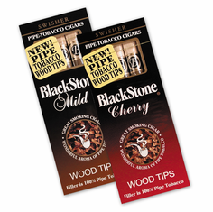 Blackstone Pipe Tobacco Cigars - Choose Mild Vanilla, Cherry, Wine or Peach - 10 Pack