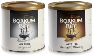 Borkum Riff Original Mixture or Bourbon Whiskey Pipe Tobacco 7 oz Cans