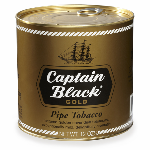 Captain Black Pipe Tobacco Gold - 12 oz. Can