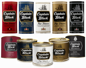 Captain Black Pipe Tobacco Pouches & Cans