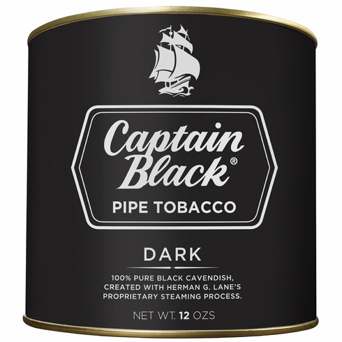 Captain Black Pipe Tobacco Regular Dark - 12 oz. Can