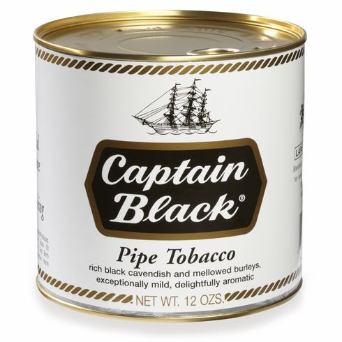 Captain Black Pipe Tobacco Regular White - 12 oz. Can